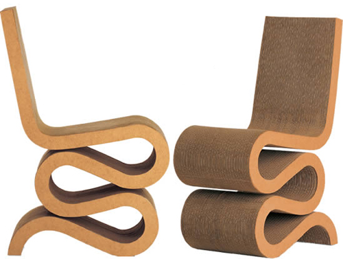 Chaises en carton de frank o gerhy lavieenrouge for Designer de chaise celebre