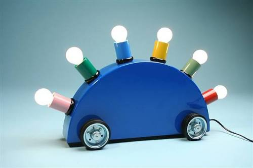 Design des années 80. Martine Bedin: La Lampe Super!