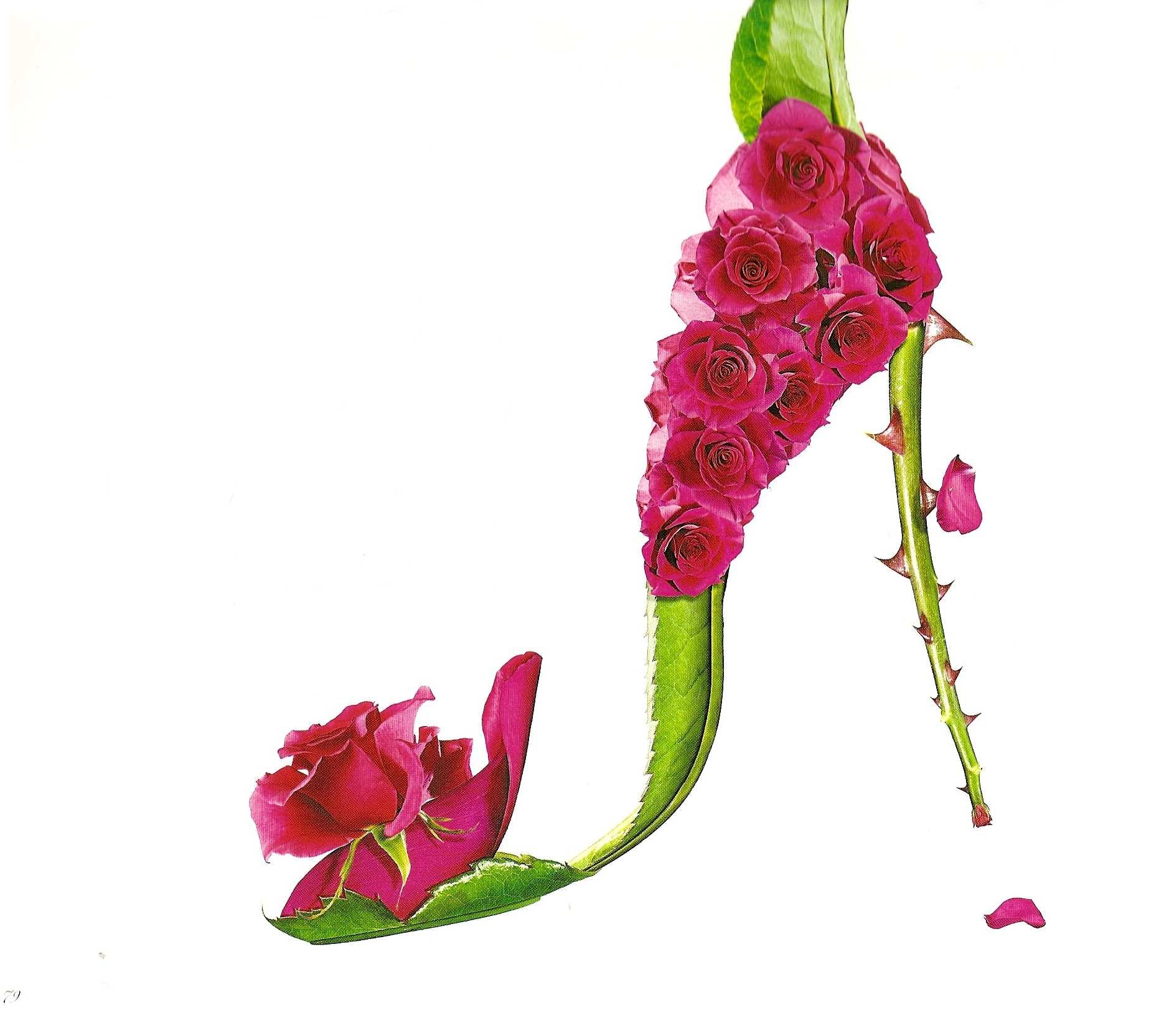 9fc7a0c7ba7c15 Chaussures réalisées avec des fleurs de Michel Tcherevkoff ...