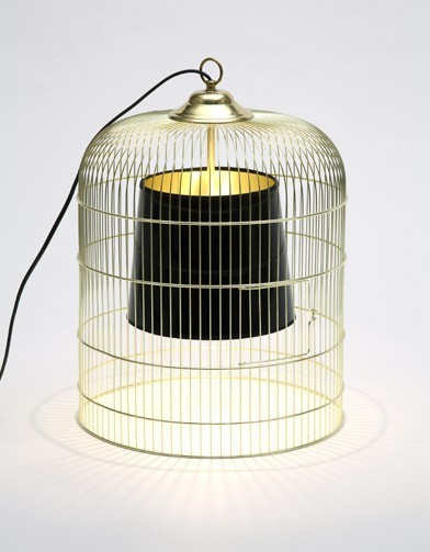 La lampe cage ou lampe sunset lavieenrouge for Deco cage a oiseaux