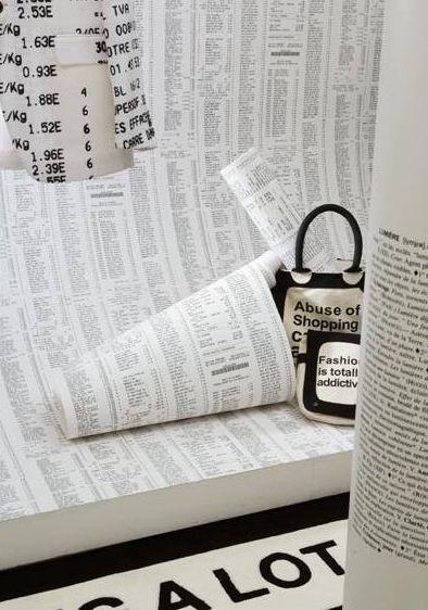 Papier peint design mes murs sont habill s par jean - Nombre de rouleau papier peint ...
