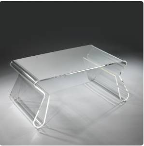 Mobilier transparent et clear fashion lavieenrouge - Table basse relevable transparente ...