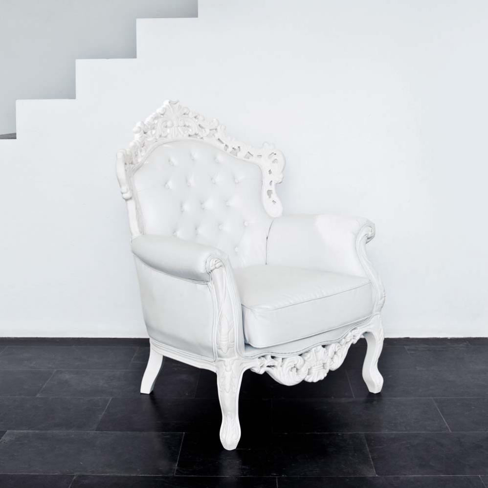 fauteuil baroque blanc design. Black Bedroom Furniture Sets. Home Design Ideas