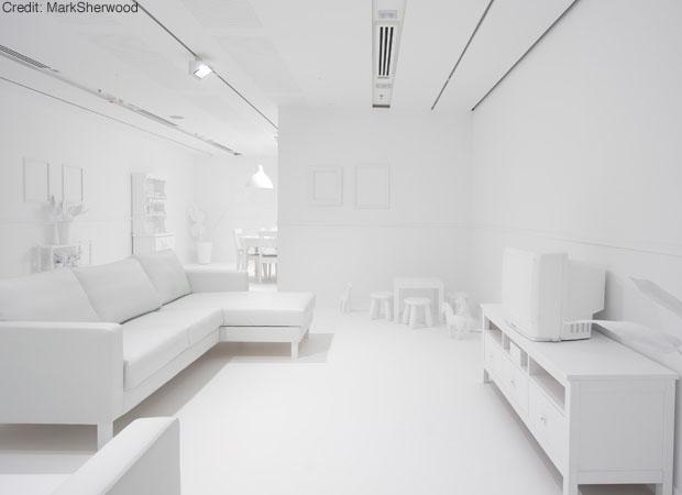 Des murs blancs ou pas lavieenrouge - Beton cire blanc brillant ...