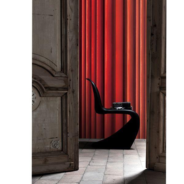 papier peint imitation rideau de koziel lavieenrouge. Black Bedroom Furniture Sets. Home Design Ideas