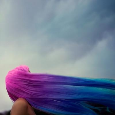 cheveux bleus