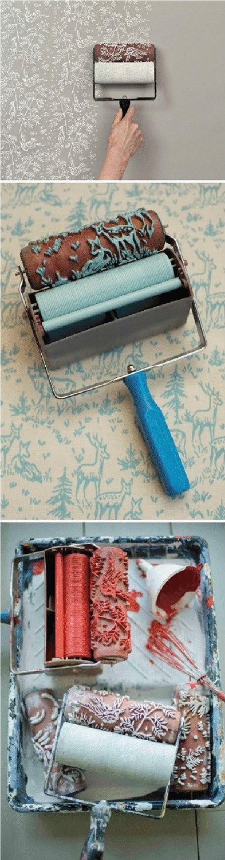 pattern paint roller
