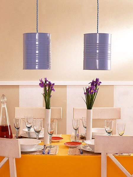 lampe boite de conserve