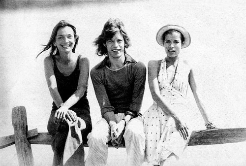Lee Radziwill, Mick & Bianca Jaegger.