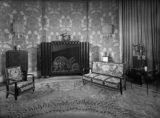 Pavillon Ruhlmann Hôtel Le Collectionneur le salon