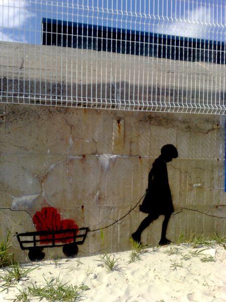 graffiti à la plage