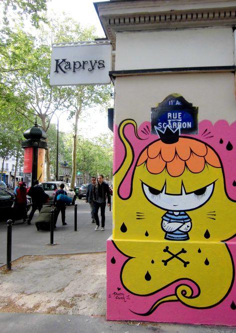 graffiti rue Scaron.