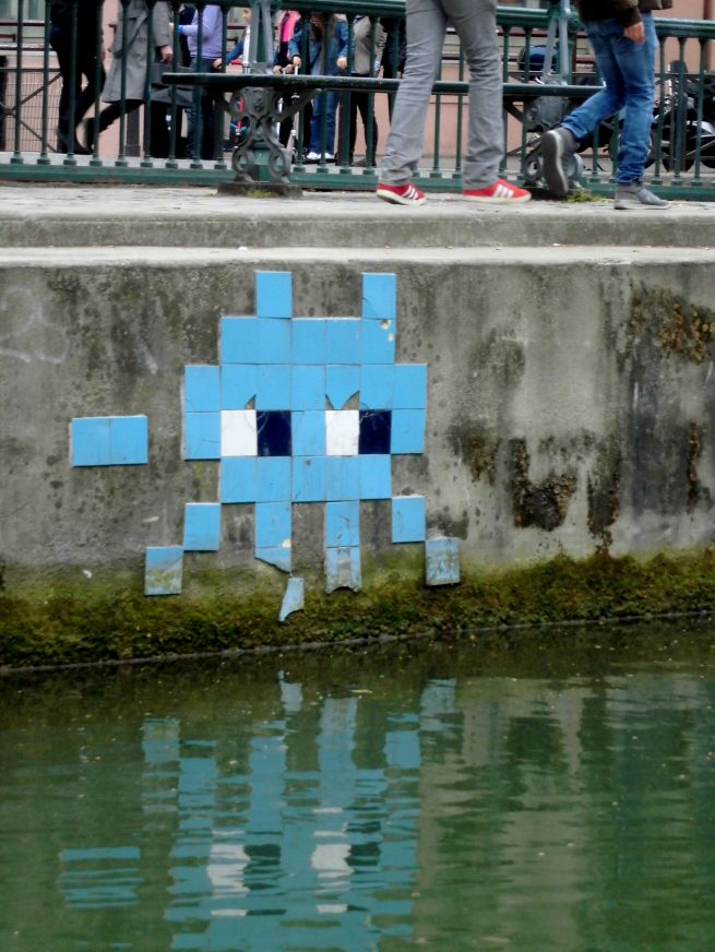 CANAL SAINT MARTIN SPACE INVADER