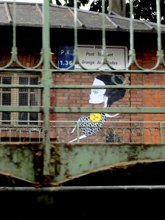 graffitis et les canaux de Paris
