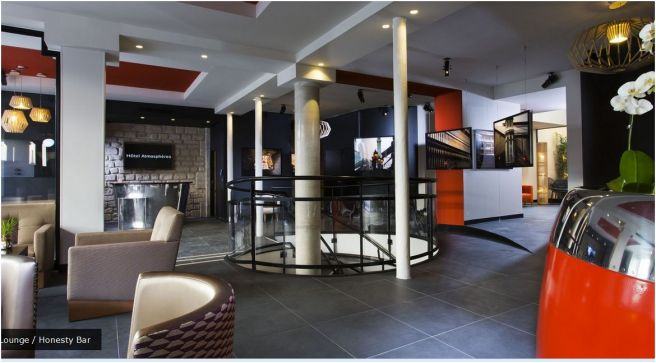 lobby hôtel atmposphère
