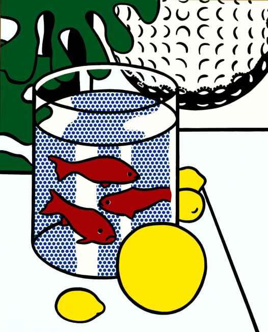 Roy Lichtenstein - Still Life with Goldfish [Nature morte aux poissons rouges] 1972
