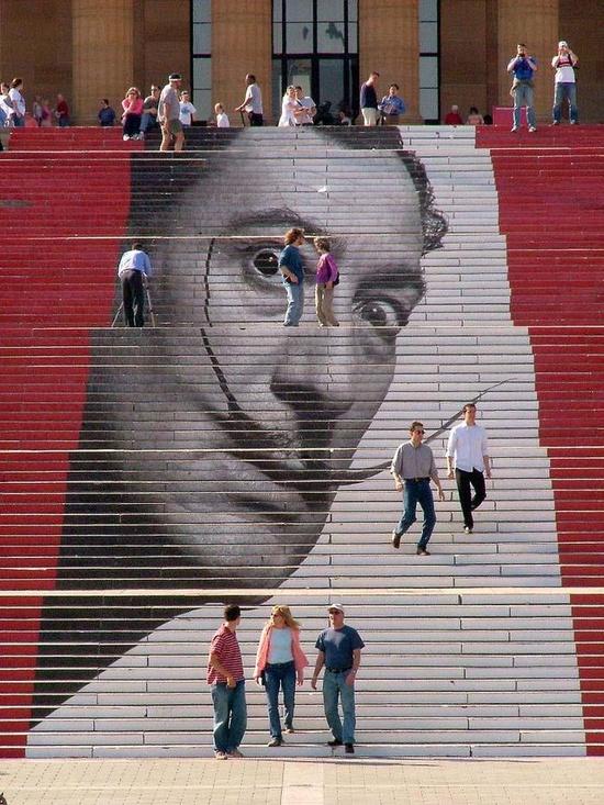 Salvador Dali stairway