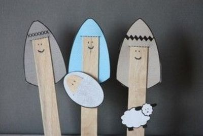 popsicle stick nativity.