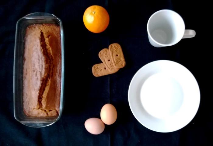 Cake aux spéculos.