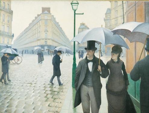 la Place de l'Europe, temps de pluie