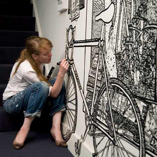 dessiner sur un mur