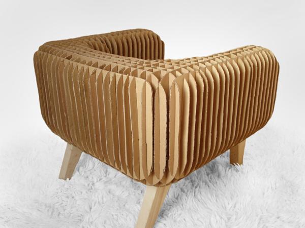 fauteuil en carton style ann es 50 et cactus en carton lavieenrouge. Black Bedroom Furniture Sets. Home Design Ideas