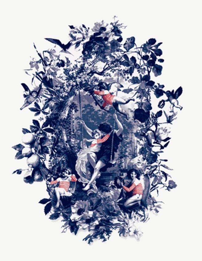 Jean-Paul Gaultier tissus.Angelot