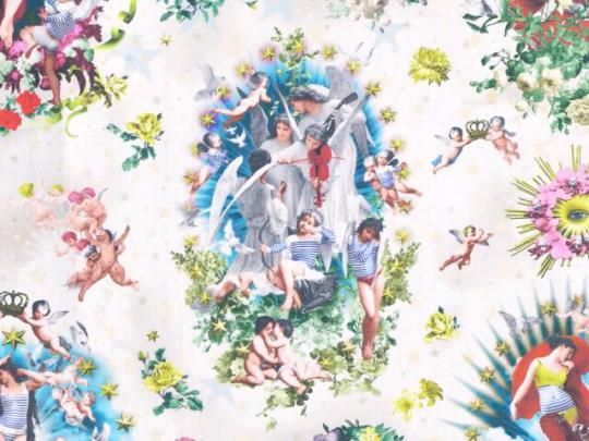tissu-angelots.Jean Paul Gaultier