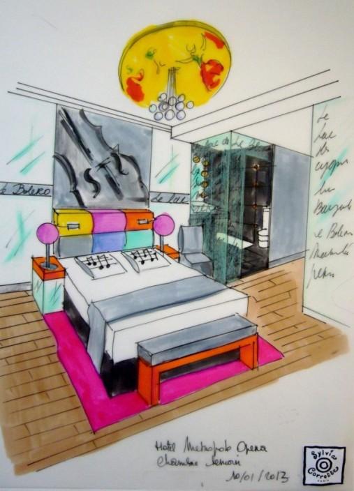 lyric-hotel-paris-dessin Syvia Corrette