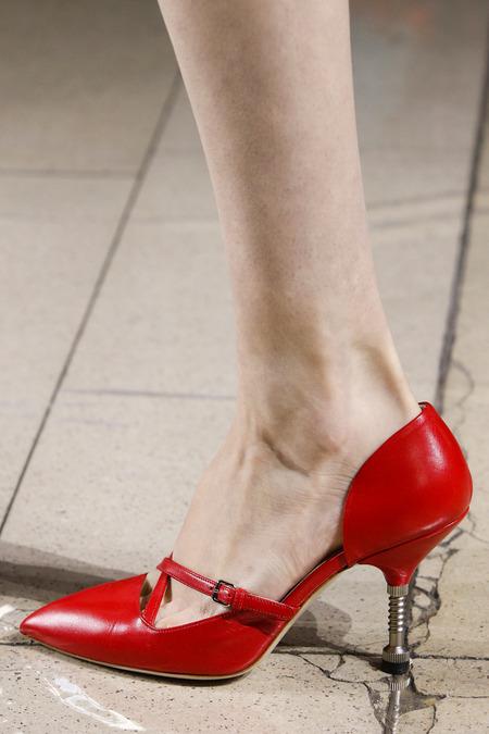 Miu Miu red shoe