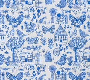 Tissu bleu et tendance