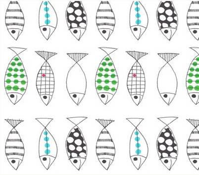 fish paper wall