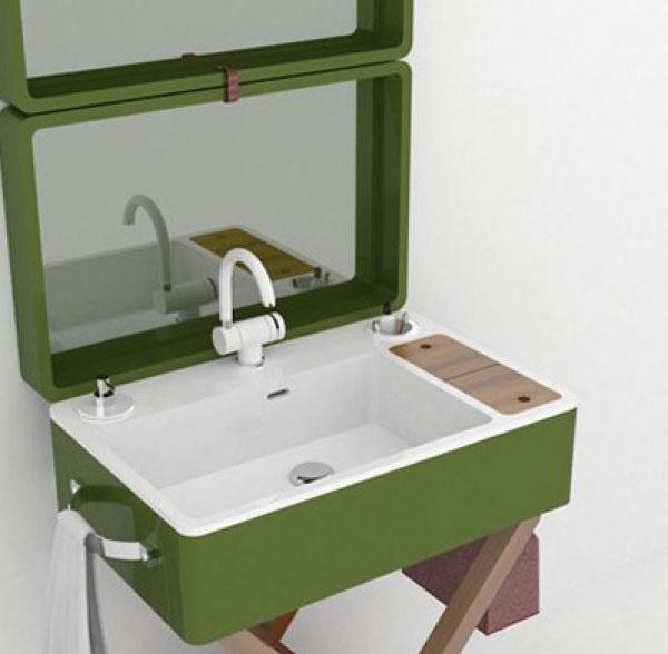 salle de bain portable.