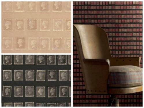 Papier peint timbres