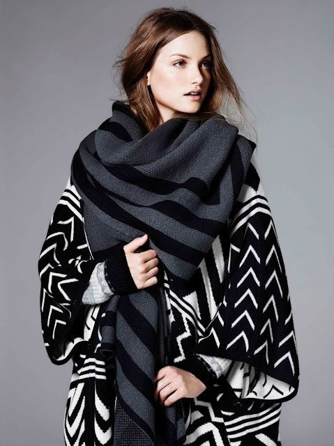 Large scarf.