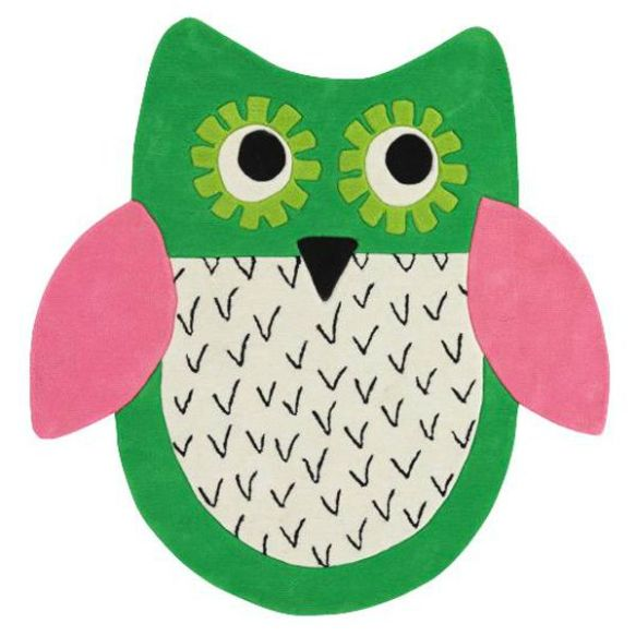 tapis-enfant-little-owl-emerald-designers-guild