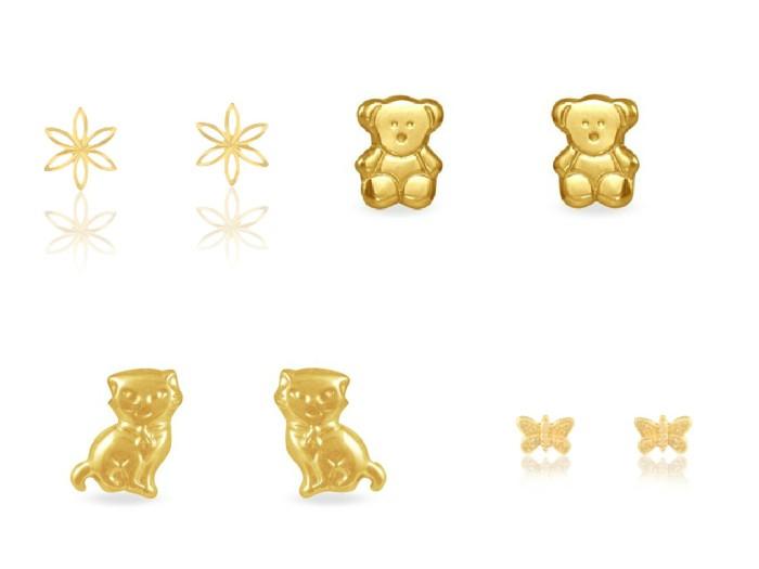 Histoire d'Or boucles d'oreilles amimaux