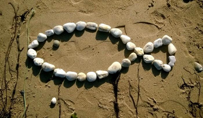 dessin sur la plage