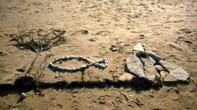 dessin sur le sable 3