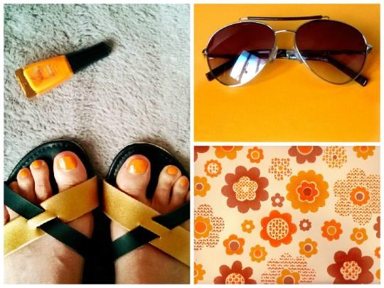 sandale plate et lunettes babou