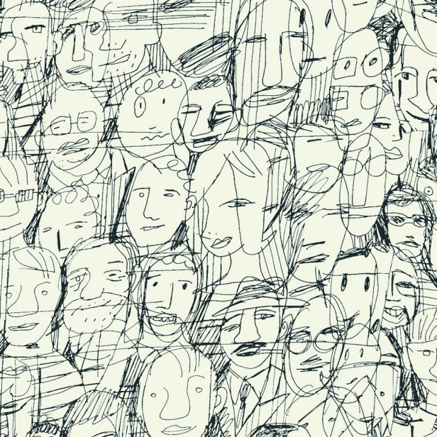 papier-peint-mil-caras-tres-tintas-barcelona