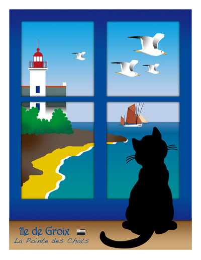 illustration la pointe des chats