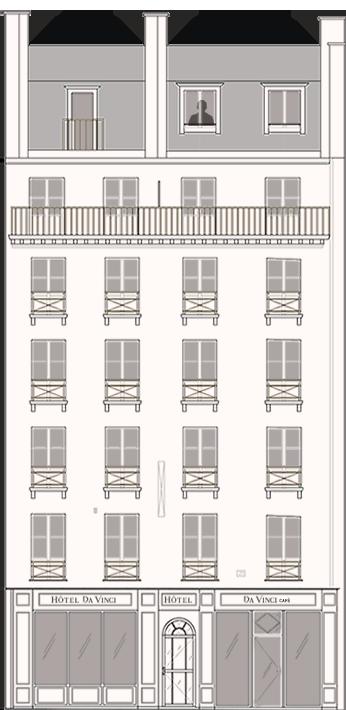 Façade Hôtel Da Vinci