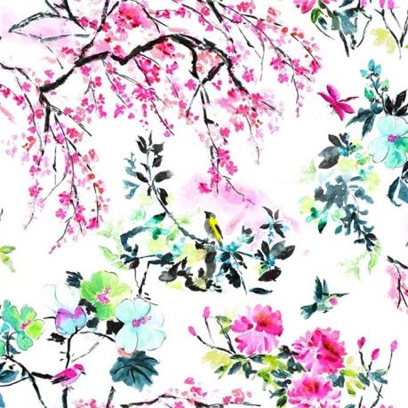 tissu-chinoiserie-flower-designers-guild