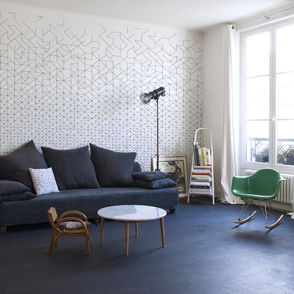 le papier peint bien fait lavieenrouge. Black Bedroom Furniture Sets. Home Design Ideas