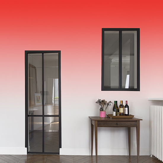 papier peint rouge d grad lavieenrouge. Black Bedroom Furniture Sets. Home Design Ideas