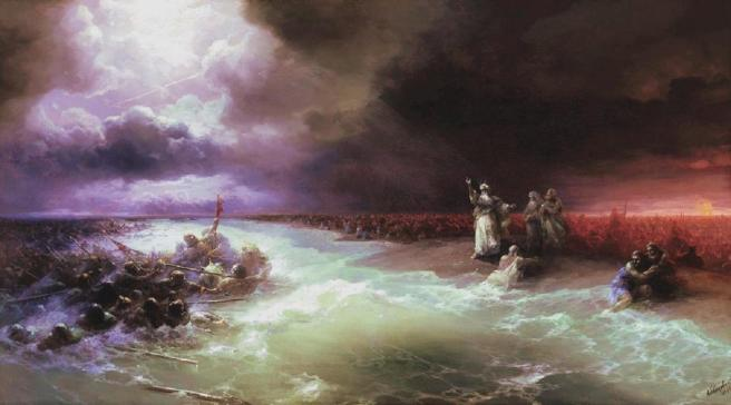 ivan-aivazovsky-passage-of-the-jews-through-the-red-sea-1891
