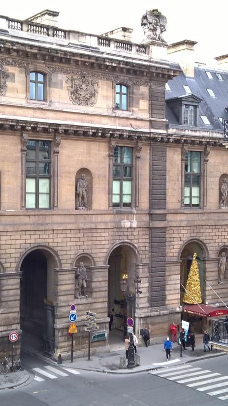 vue de l'hôtel du Louvre
