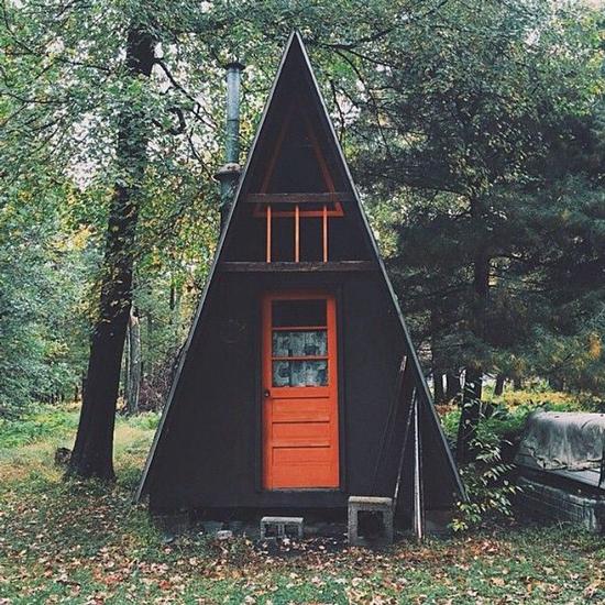 a frame cabin t