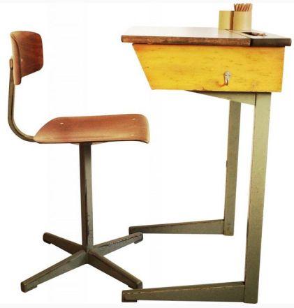 Bureau enfant et sa chaise, Friso KRAMER - 1950